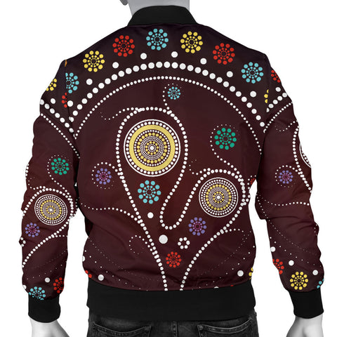 Australia Mens Bomber Jacket Aboriginal Tree TH1
