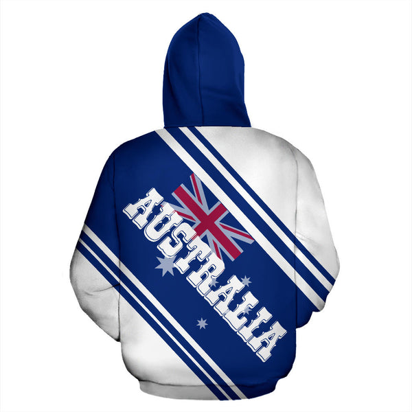 1stAustralia Zip Up Hoodie - Australian Coat Of Arms Hoodie - Aus Flag - Unisex - Th9
