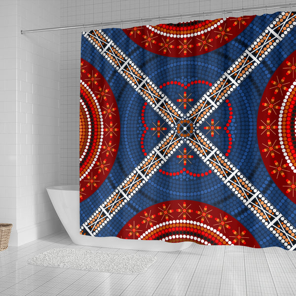 1stAustralia Shower Curtain - Aboriginal Dot Painting Curtain