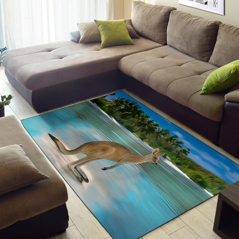 Australia Area Rug Kangaroo On The Beach TH1