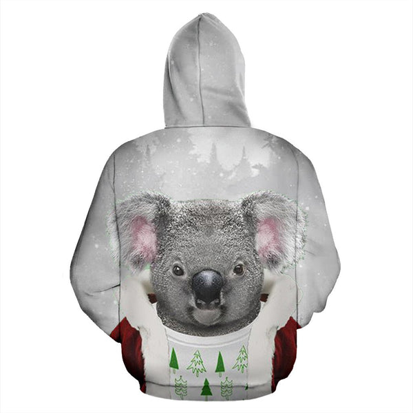 Australia Koala Claus ChristmasŠܢ Hoodie Back For Men And Women