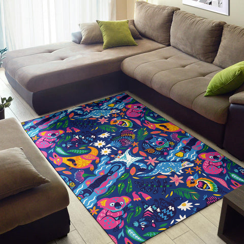 Australia Area Rug Animals 01 TH1