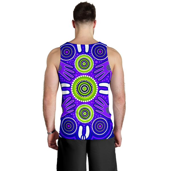 1stAustralia Men's Tank Top - Aboriginal Family With Dot Painting art - BN17