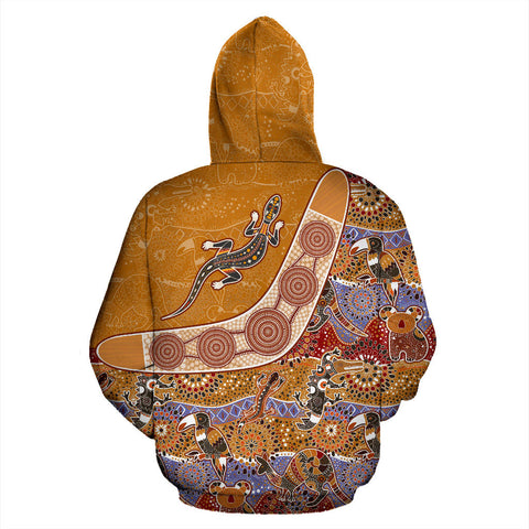 Australia Pattern Style - All Over Zip-Up Hoodie - MRP