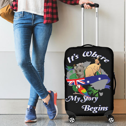 Its Where My Story Begins Luggage Cover TH0