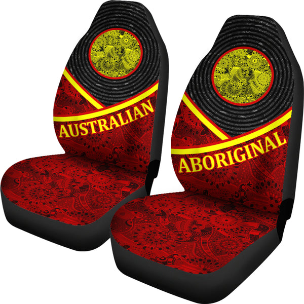 1stAustralia Car Seat Covers, Art Aboriginal Flag Seat Covers - Bn14