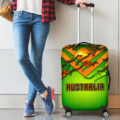 1stAustralia Luggage Cover - Australian Kangaroo Suitcase Cover Aussie National Colors