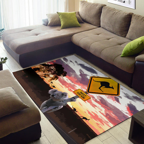 Australia Area Rug Koala With Kangaroo Sign TH1