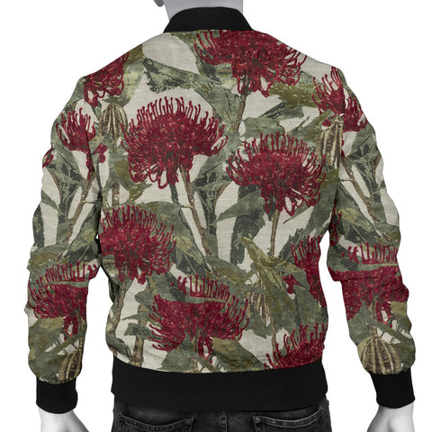 Kangaroo in Waratah Mens Bomber Jacket TH65