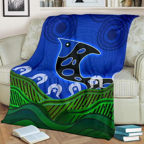 1stAustralia Premium Blanket - Torres Strait Dot Patterns Fish