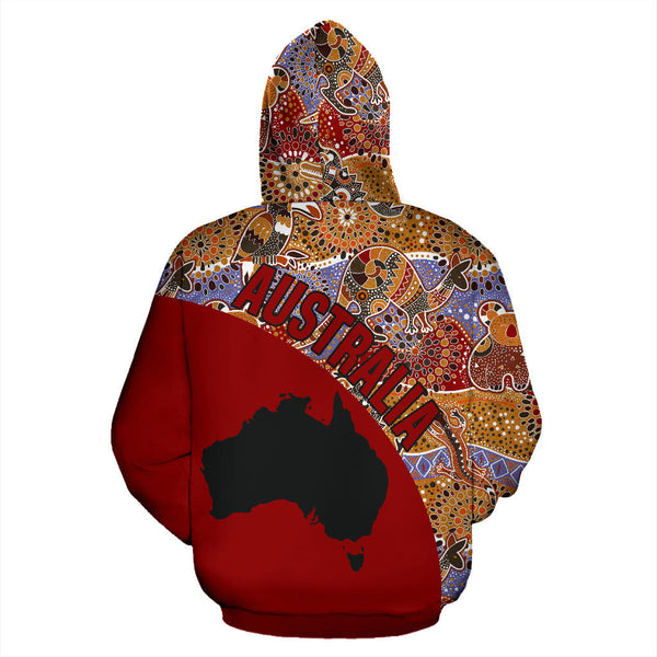 1stAustralia Aboriginal Hoodie, Australia Map Kangaroo Patterns Koala - Th5