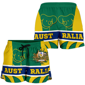 1stAustralia Shorts - Australian Coat Of Arms Shorts Koala - Women