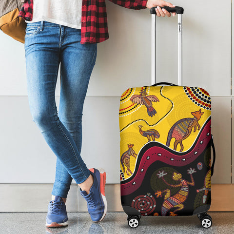 1stAustralia Aboriginal Luggage Covers - Indigenous Animals Life Art