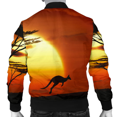 Australia Mens Bomber Jacket Kangaroo Sunset TH1