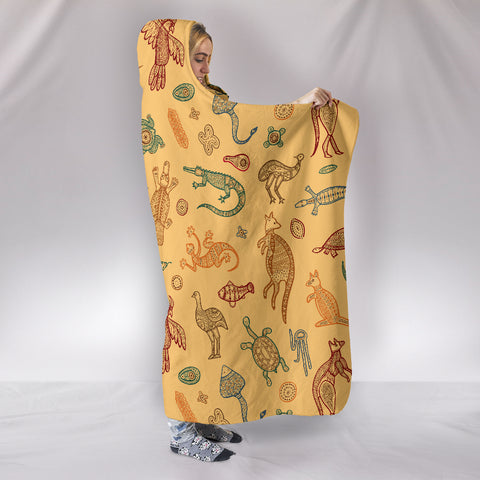 Image of Australia Animals Hooded Blanket TH1