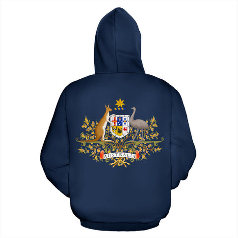Australia Hoodie Coat Of Arms Zip-Up Th5