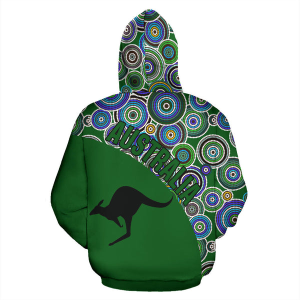 1stAustralia Aboriginal Hoodie, Kangaroo Patterns Circle Dot Painting 03 - Th95