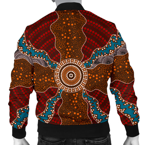 Australia Mens Bomber Jacket Aboriginal 06 TH1
