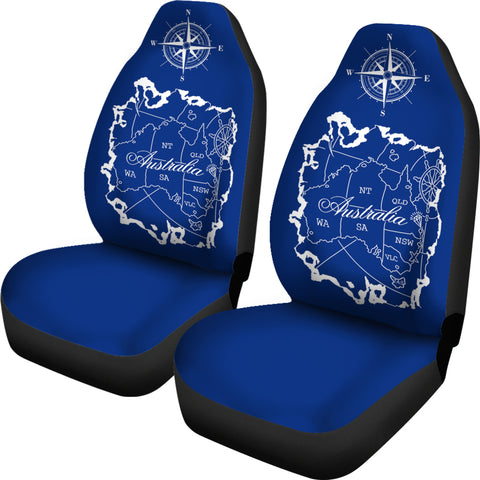 Australia Map Compass Car Seat Covers