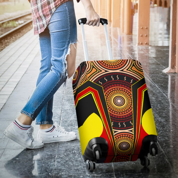 1stAustralia Luggage Covers - Aboriginal With Dot Painting Art - BN17