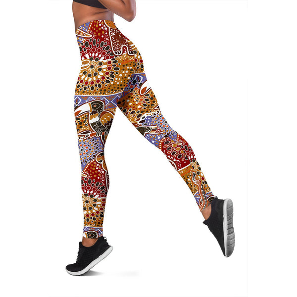 1stAustralia Leggings - Aboriginal Patterns Tight Pants Australian Animals - Nn0