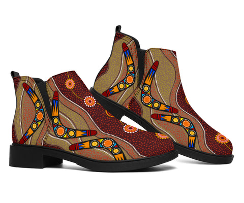 1stAustralia Boots (Fashion) - Aboriginal Boots Boomerang Patterns