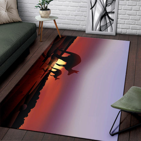 Australia Area Rug Kangaroo With Nightfall TH1