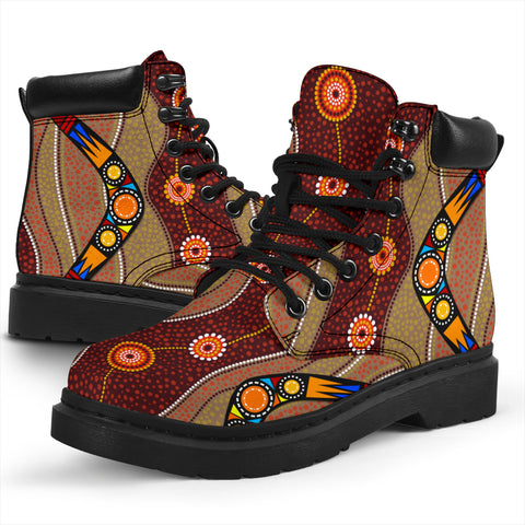 1stAustralia Boots (All Season) - Aboriginal Boots Boomerang Patterns