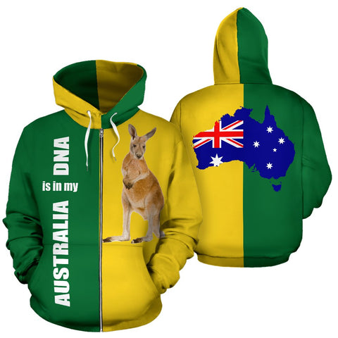 Australia Kangaroo Hoodie (Zip-Up) is in My DNA Hoodie