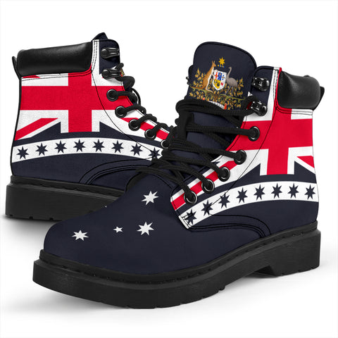 Australian All Season Boots - Australia Flag (Navy) - BN14