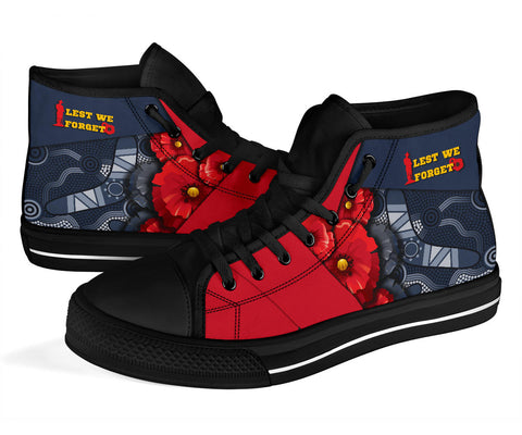 1stAustralia Aboriginal High Top Shoes, Anzac Day