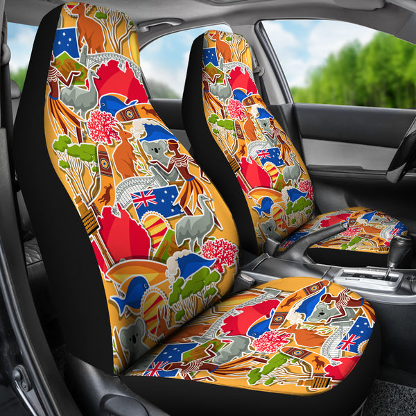 1stAustralia Car Seat Covers - Australia Symbol Seat Cover Universal Fit - Nn0