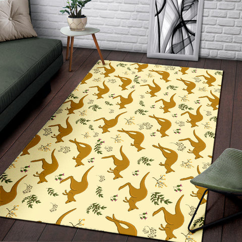 Australia Area Rug Koala With Kangaroo Pattern TH1