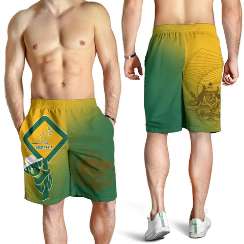 1stAustralia Shorts - Aus Flag and Coat Of Arms Short Kangaroo and Koala Sign - Men