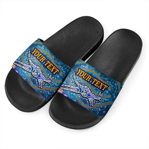 (Custom text) 1stAustralia Slide Sandals - Kangaroo Dreaming - BN09