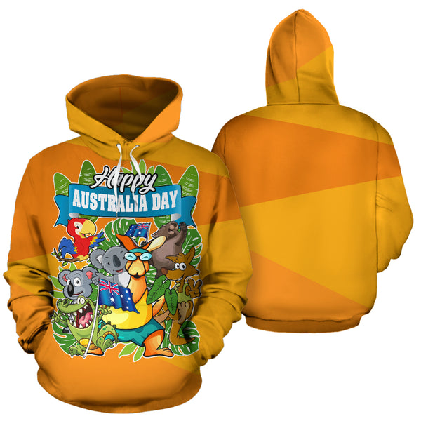 Australia Happy Place All Over Hoodie