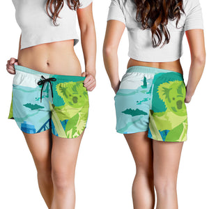 1stAustralia Short - Koala Short On The Beach Painting - Women - K5