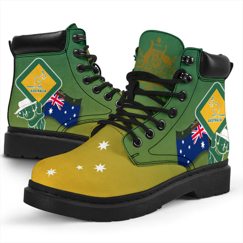 1stAustralia All-season Boots - Aus Flag and Coat Of Arms Boots Kangaroo and Koala Sign