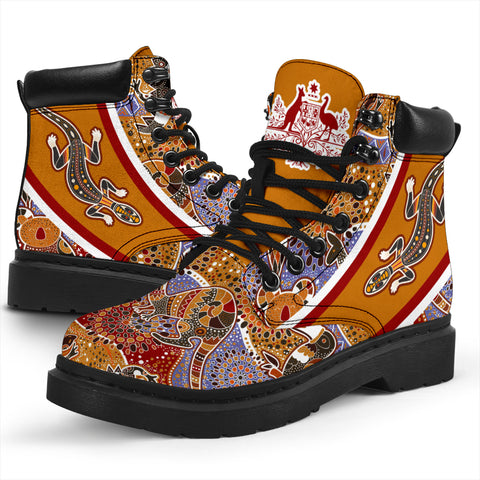 Australia Aboriginal Boots (All-Season) - Australia Pattern