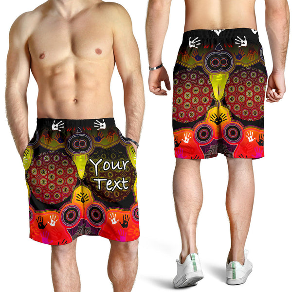 [Custom] 1stAustralia Aboriginal Men's Shorts, Indigenous Circle Dot Painting Hand Art