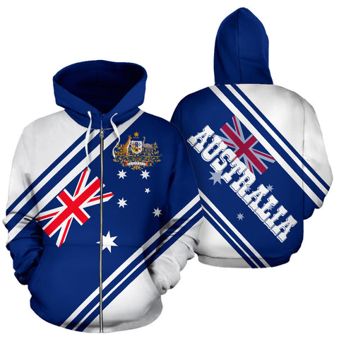 Image of Australia Zip-Up Hoodie Line Version Th9
