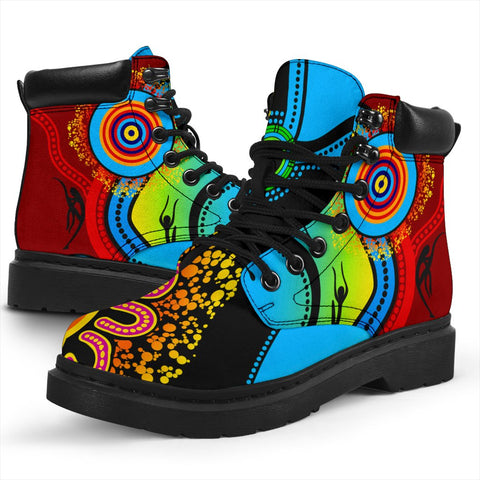 1stAustralia Boots (All-season) - Aboriginal Boots Blue Dream
