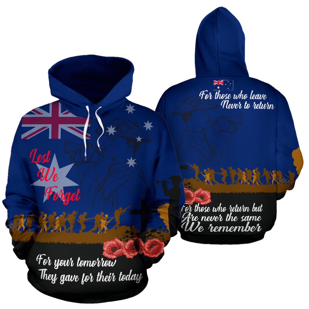 Australia Day Hoodie Lest We Forget