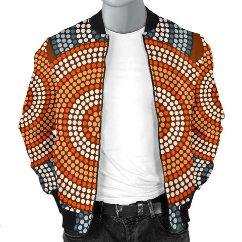 Australia Mens Bomber Jacket Aboriginal 05 TH1