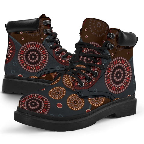 Australia All-season Boots - Aboriginal Pattern 02A