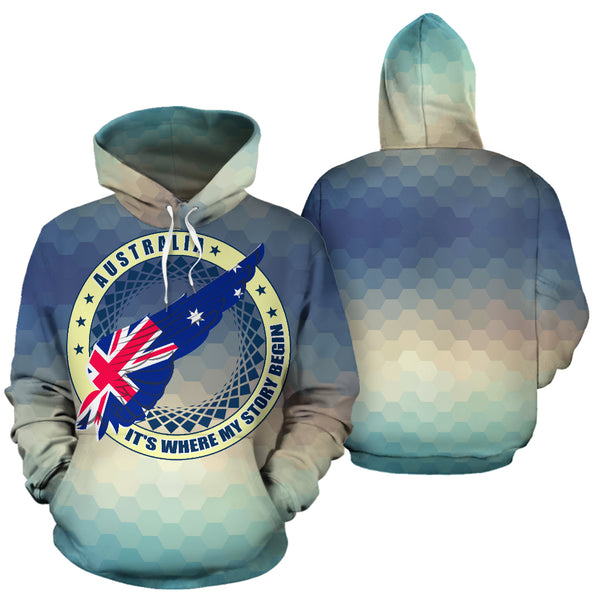 Australia Its Where My Story Begin All Over Hoodie