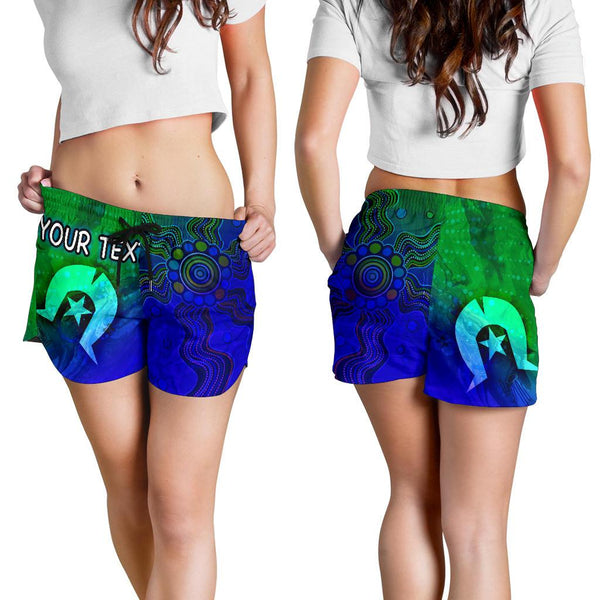 [Custom] 1stAustralia Aboriginal Women's Shorts , Torres Strait Islands Flag