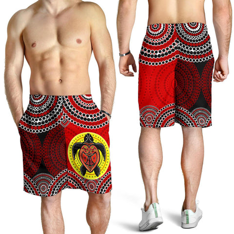 1stAustralia Shorts- Aboriginal Dot Painting Short Turtle - Men