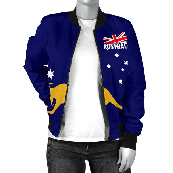 1stAustralia Bomber Jacket - Aus Flag Jacket Kangaroo Southern Cross Australia - Women - Th9