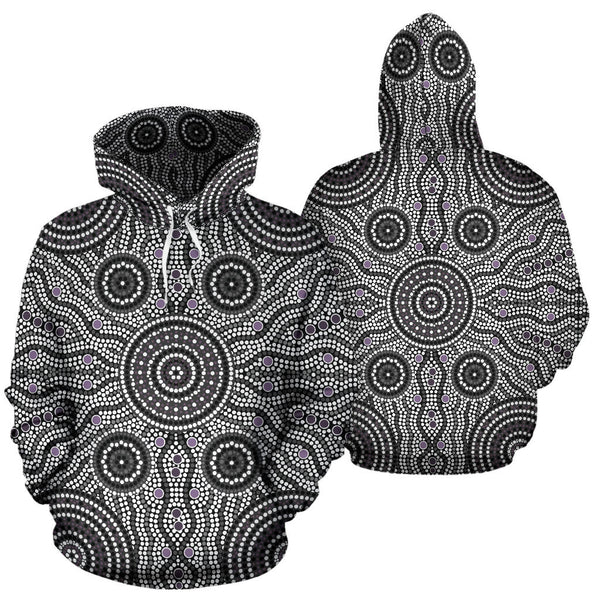 1stAustralia Aboriginal Hoodie, Circle Dot Painting Ver04 - Th1